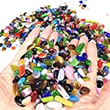 Wayber Colorful Pebbles, 0.9 Lb/410g Opal Glass Sand Rock Crystal Stones for Aquariums/Terrariums/Garden/Flowerpot/Glassware/Vases Decoration (Fills 1 Cup)