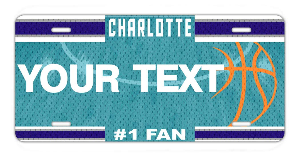 BRGiftShop Personalize Your Own Basketball Team Charlotte Car Vehicle 6x12 License Plate Auto Tag