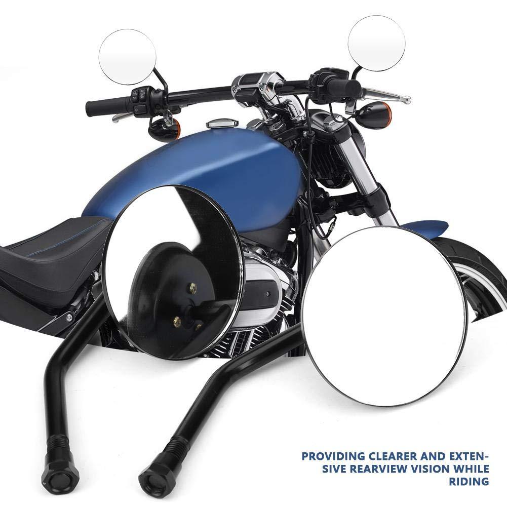 EBTOOLS 2Pcs M10 Moto R/étroviseurs Ronde Fil de Montage 10mm
