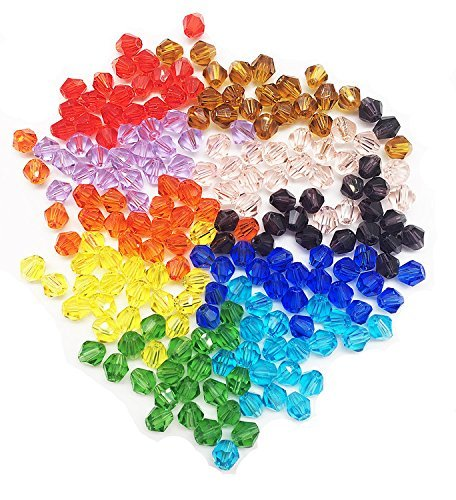 6mm 500pcs Multicolor Bicone Crystal Glass Loose Beads For Jewelry Making Findings Wholesale Mix lots