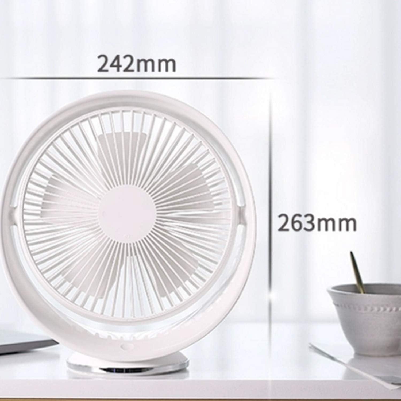 Color : 4000mAh Mini Portable Cooling Fan Mini Desktop Rotatable Fan USB 3 Gear Wind Electric Fan Household Table Fan