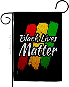 Black Lives Matter Black Lives Awareness Garden Flag Support Cause BLM Anti Racism Revolution Movement Equality Social House Decoration Banner Small Yard Gift Double-Sided, 13