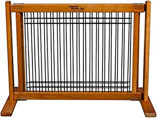 product image for Dynamic Accents Indoor Wood and Wire Large Pet Gate, 20 Inch Tall - Artisan Bronze