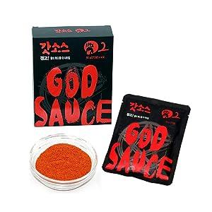 SBA EnL, God Sauce Seasoning Level 2, Korean Hot Sauce For Multi Purpose, Buldak bokkeum myun(ramen) challenge, spicy food, hot sauce, grill seasoning, stew seasoning 8.5 oz(1 box)