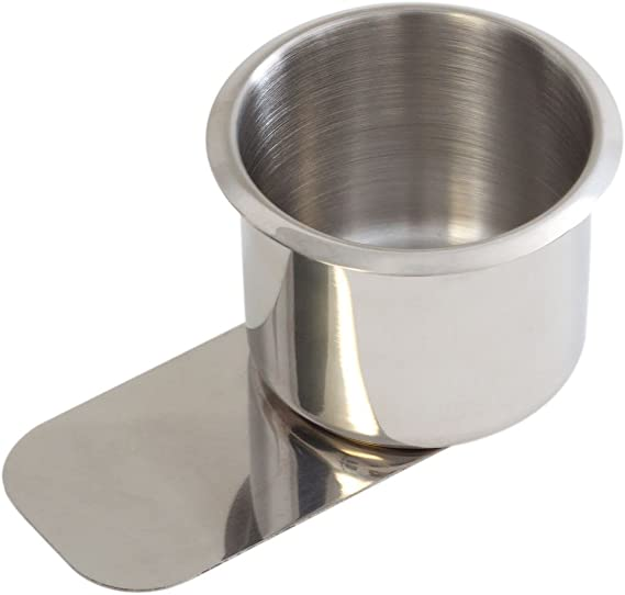 GSE Games & Sports Expert Stainless Steel Slide Under Drink Cup Holder for Poker Table (Single/10-Pack)