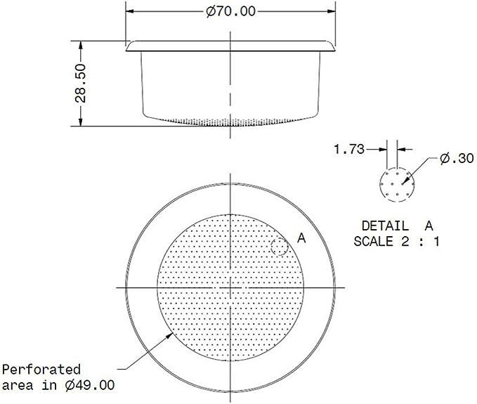B70 2T H24.5 M IMS Competitive Precision 2 Cup Basket 12//18 gr