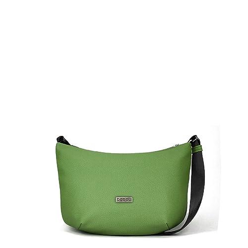 7d39bdc7f05 Bolso cruzado con luz interior. Color verde. 3 bolsillos interiores y asa  extensible hecha
