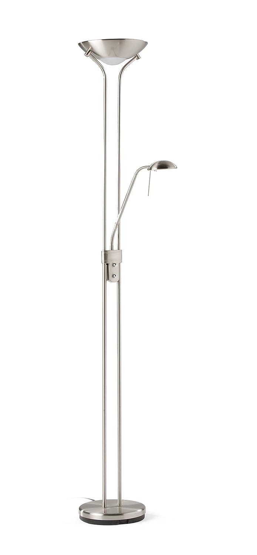 Els Banys Lámparas de pie de salón LED, Satinado, 180 cm altura 5 cm diámetro