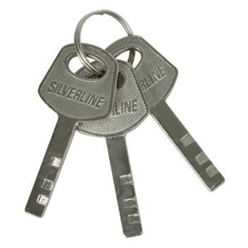 Silverline 595756 Closed Shackle Steel Padlock 40mm