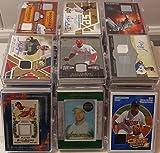 MLB Baseball Trading Cards Lot of 10 Game Used