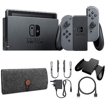 Amazon.com: Nintendo Switch Gray Joy con funda protectora ...