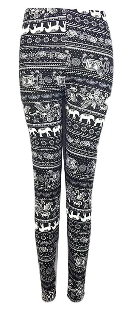 ouxiuli Womens's Cotton High Waist Christmas Printed Leggings Pant
