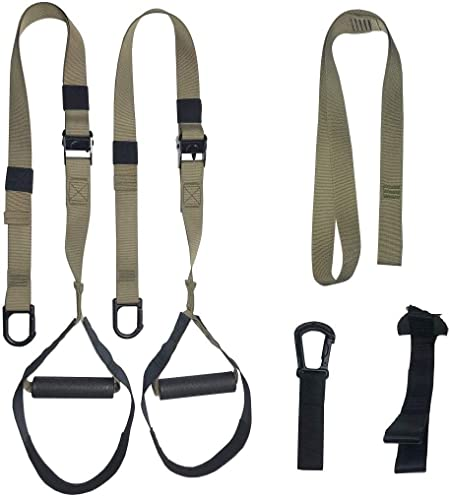 GRASEP Home Gym Bodyweight Resistance Training Straps Workouts Fitness Bands Trainer Kit with Door Anchor Exercise Fitness Equipment to Lose Weight Gym, Home, Travel (Khaki) : Sports & Outdoors - Amazon.com
