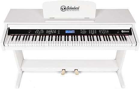 Schubert Subi88P2 Piano digital de pared - 88 teclas sensibles al tacto, 2 pedales, 31 pistas demo, 118 ritmos, 138 instrumentos, Pantalla LCD, MIDI, ...