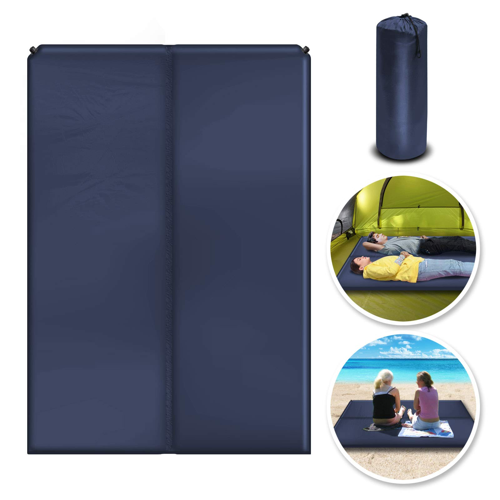BenefitUSA Outdoor Folding Camping Mat Moistureproof Sleeping Bed 2 Person Mattress Cushion (Blue) by Benefit-USA