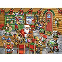 Vermont Christmas Company Santa's Workshop Jigsaw Puzzle 550 Piece