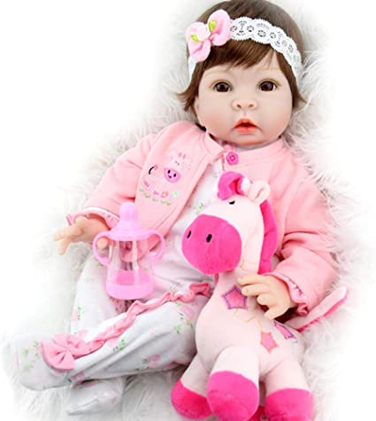 Lifelike Reborn Sleeping Baby Doll Soft Plush Bear Cat Toy Christmas Gifts