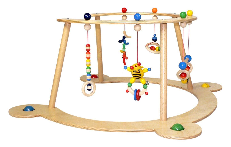 Hess Holzspielzeug Babyspiel und Lauflerngeraet Dschungel Gr/ün