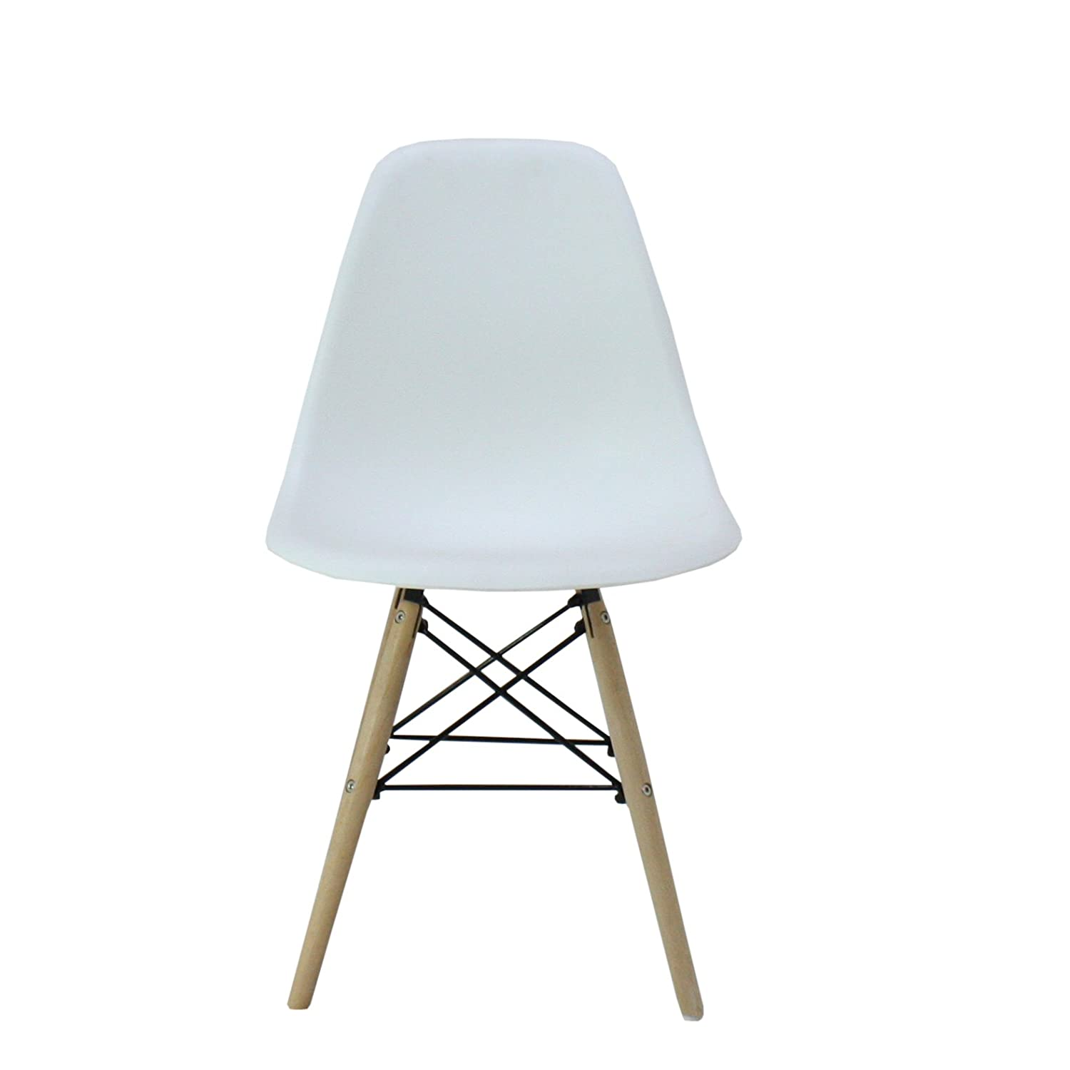 P&N Homewares Moda Dining Chair Plastic Wood Retro Dining Chairs