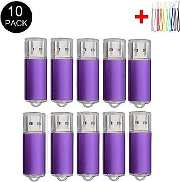 2.0//8GB, Orange 10PCS USB Flash Drive USB 2.0//3.0 Memory Stick Memory Drive Pen Drive