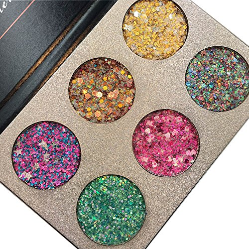 Beauty Glazed Make Up Palettes 6 Colors Glitter Injections P