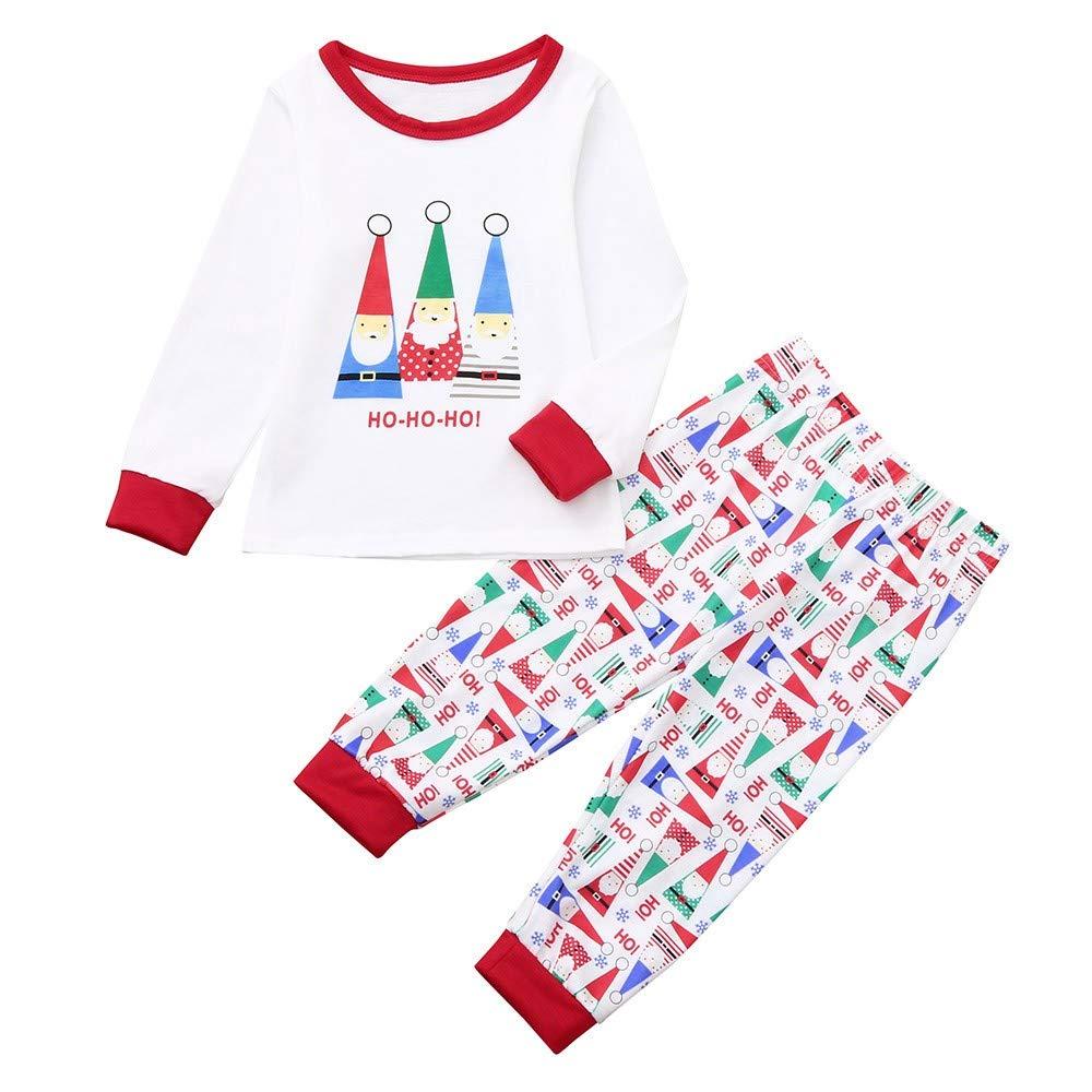 73bd082320 Amazon.com  FEDULK Christmas Pajamas Matching Family HOHOHO Sleepwear  Nightwear Pjs Sets  Clothing