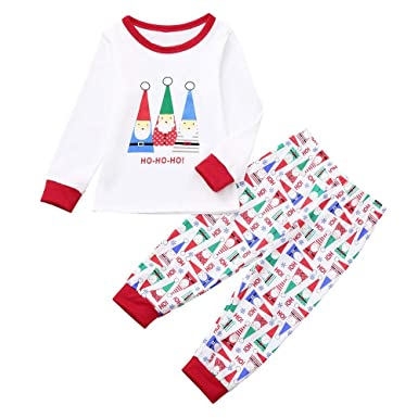 9f4d476af59 Family Pajamas Sleepwear Matching Christmas Sets Kids Boys Girls Adult  Christmas Pajama Set Nightwear Homewear Outfit 2 Pieces for Dad Mom Baby   ...