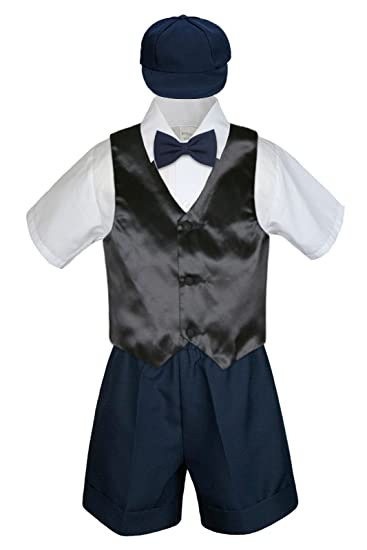 Amazon.com: leadertux 5pc Formal bebé niños negro chaleco ...