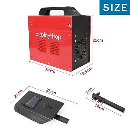 Display4top Soldador hilo continuo sin gas MIG 130 230V Máquina de Soldadora Aparato Eléctrico de Soldadura Máquina de Soldar Portátil para Casa Color Rojo: ...