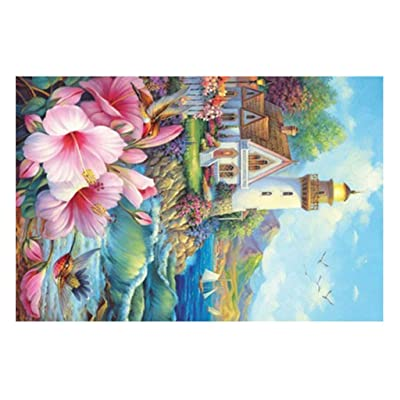 Binory Landscape Jigsaw Puzzles for Adults 150 Pieces, Challenge Picture Puzzle Intelligent Toy Brain Game Personalized Gift for Kids Adults and Seniors - Seaside Lighthouse: Toys & Games