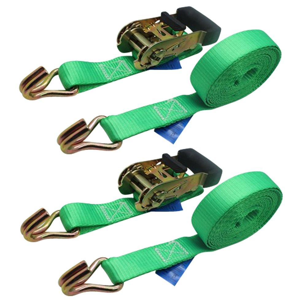 Ratchoox Sangles à cliquet avec poignée en caoutchouc 1.5T pour remorque Cargo Vert, vert Eagle Rise Ltd