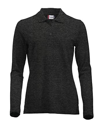 a402408cc321 Clique Clothing Ladies Classic Cotton Long Sleeve Polo Shirt. Modern ...