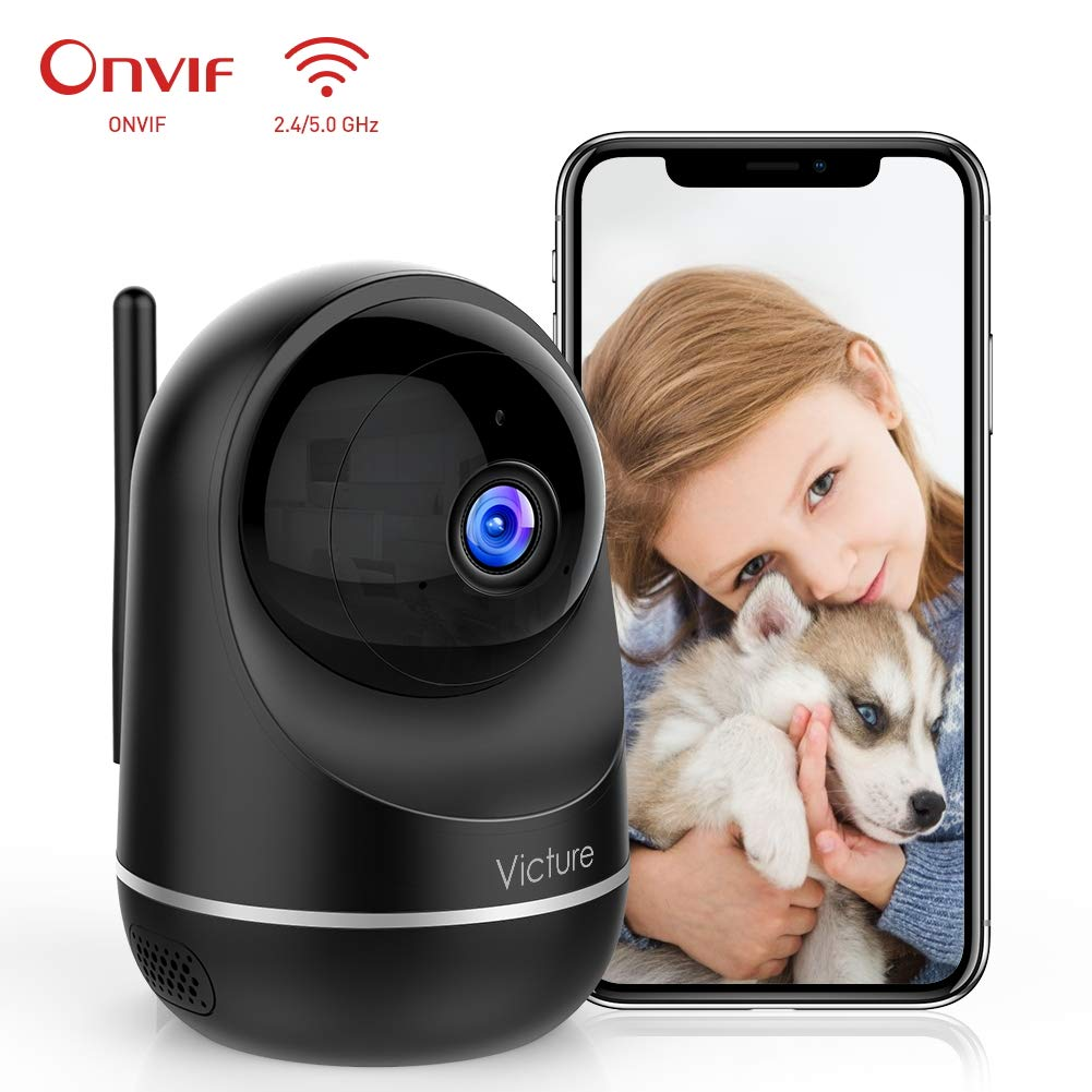 Victure Dualband 2.4Ghz and 5Ghz 1080P WiFi Camera Baby Monitor,FHD Wireless Security Camera with Motion Detection via IPC360 Pro, Pan Tilt, 2-Way Audio, Night Vision by Victure