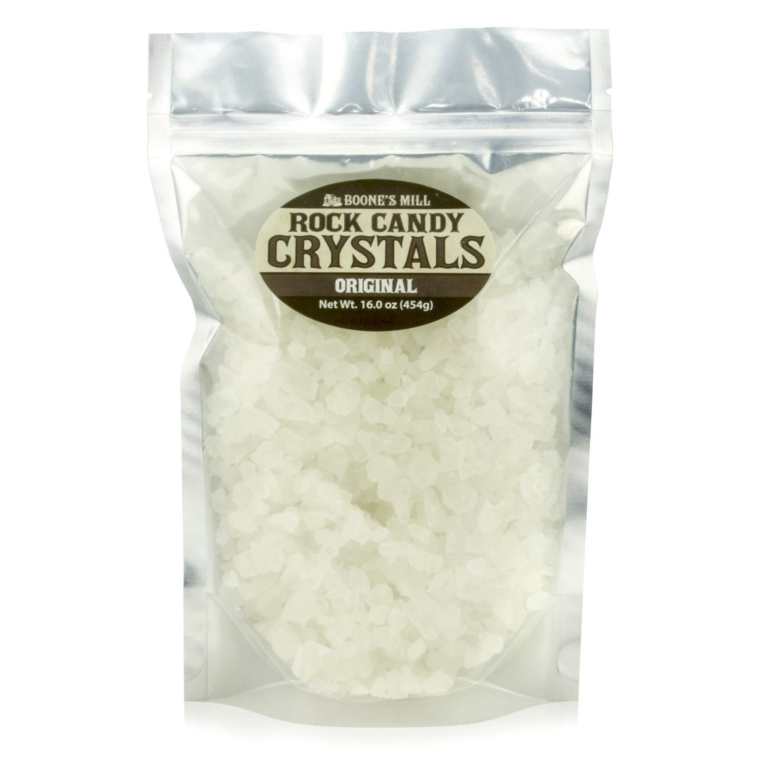 Clear - Original Rock Crystal Candy | 1 Pound In A Resealable Stand-Up Bag | Boone's Mill by Boone's Mill