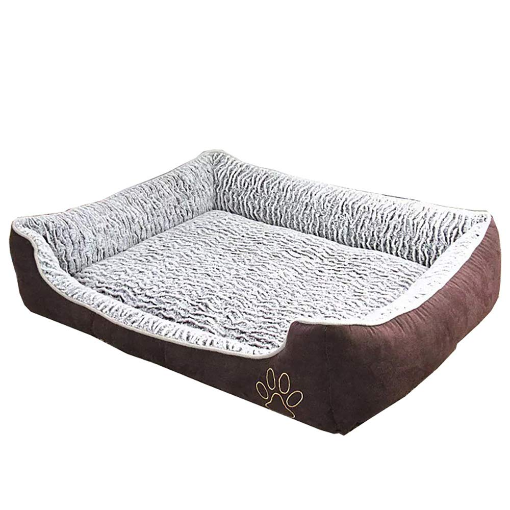Large Pet Bed Dog Paws with Removable Washable Covers Striped Velvet Puppy Cuddle Removable Cushion Dog Washable Cat Sleeping Bed, Large