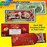 2020 CNY Lunar Chinese New YEAR OF THE RAT Polychromatic 8 Rats $2 U.S. Bill RED