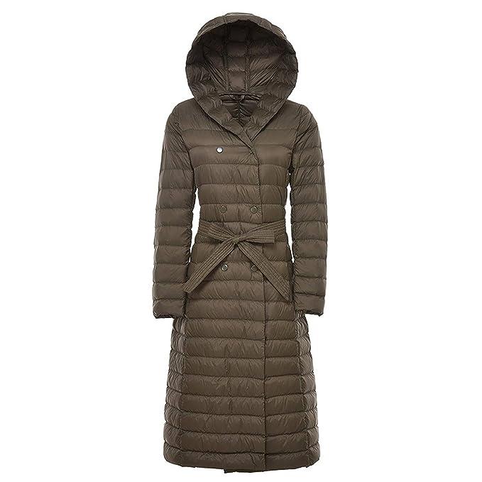 Amazon.com: Chaqueta de plumón de pato largo, abrigo de ...