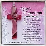 Gift for Grandma: Handmade Glass Cross and Grandma Poem
