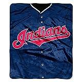 Cleveland Indians 50x60 Royal Plush Raschel Throw Fleece Blanket - Jersey Design - Licensed MLB Baseball Merchandise