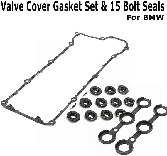 for BMW 94-95 325I 325IS M3 E36 E34 OEM Valve Cover Gasket Set Kit w/Grommets Engine Valve Cover Cap Gasket Set: Amazon.ca: Tools & Home Improvement