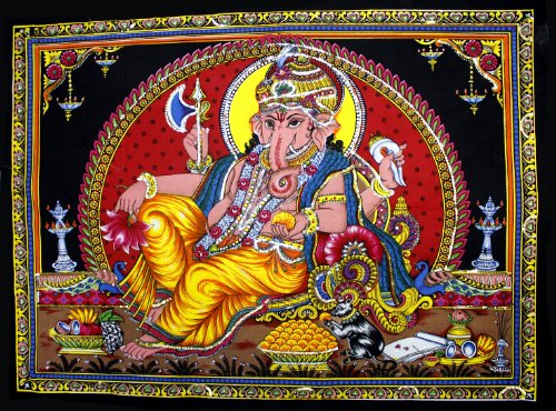 Cotton Canvas Lord Ganesh / Ganesha / Ganpati Yoga 22