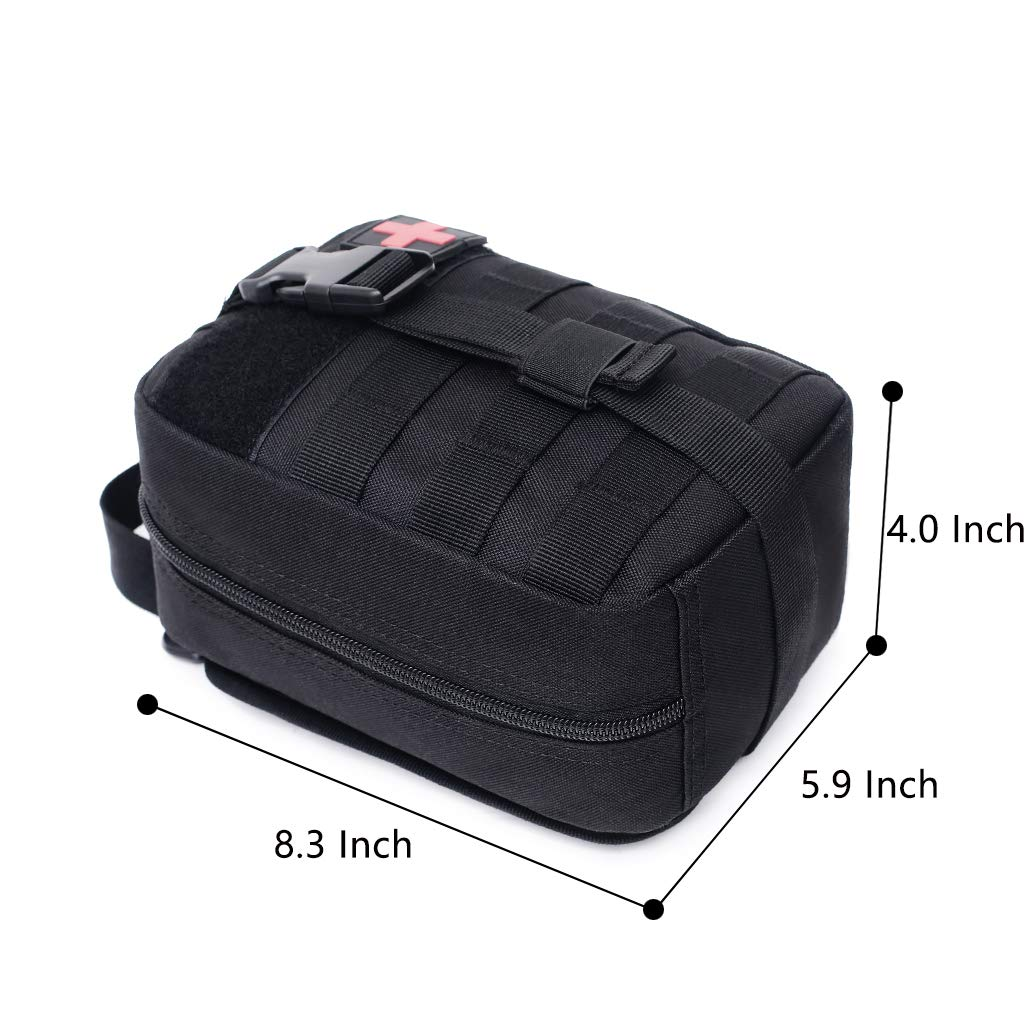 mit Riss-Away EMT IFAK Ausblasbeutel nur Tasche Zeato Tactical Molle Medizinische Erste-Hilfe-Kit