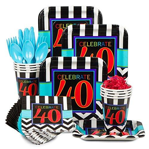 Chevron Mix 40Th Birthday Standard Kit (Serves 8)