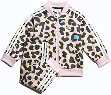 patrimonio poco claro felicidad  Amazon.com: adidas Infant Toddler LZ Leopard Print SST Superstar Track Suit  (Multicolor/Clear Pink/White) FM9992 (Size:3M): Clothing