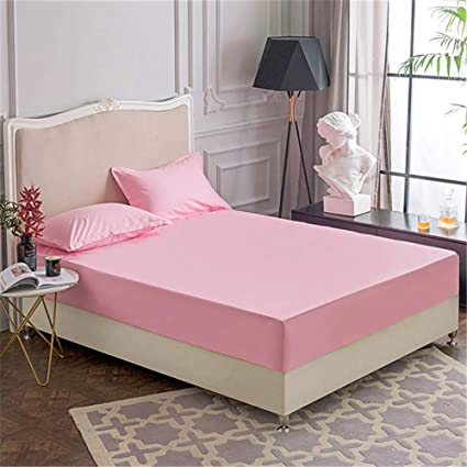 Superb 1PCS Cotton Waterproof Mattress Cover Bed Sheets Four Corners With Elastic  Band Mattress Protector For Bed