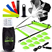 Big B Pro Sports Speed & Agility Training Set | Includes Ladder, 10 Cones, Running Parachute, Jump Rope, 5 Resistance…