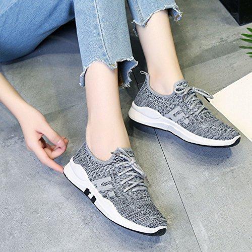 de Para Negro Casuales Zapatos Zapatos New Zapatos Korean Gris mujer Version Morado Individuales Transpirables Zapatos Gris Nan The Correr Movimiento 1Rgg4x