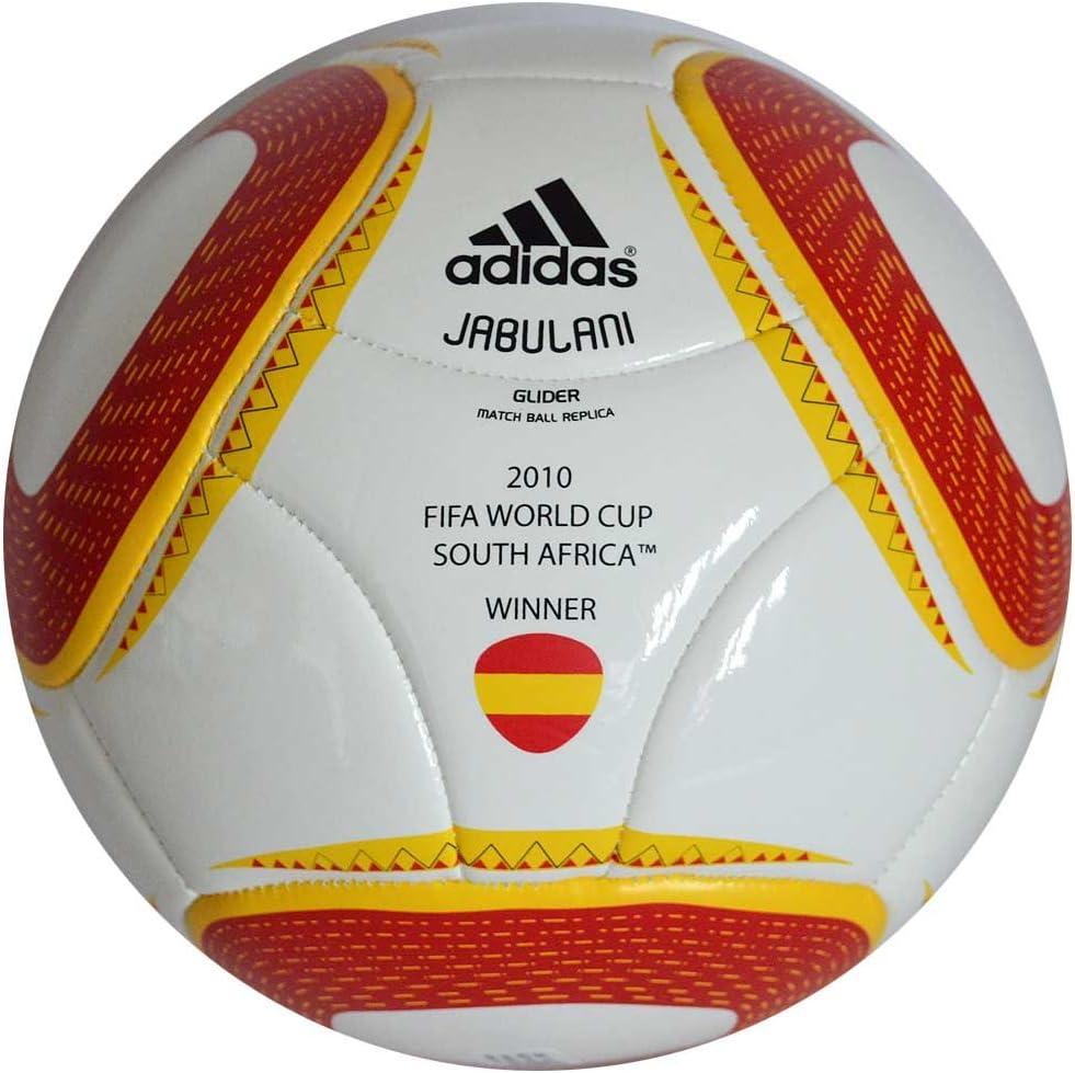 adidas Jabulani Glider réplica balón de España (ganadores 2010 Copa del Mundo fútbol tamaño de la bola 5: Amazon.es: Deportes y aire libre