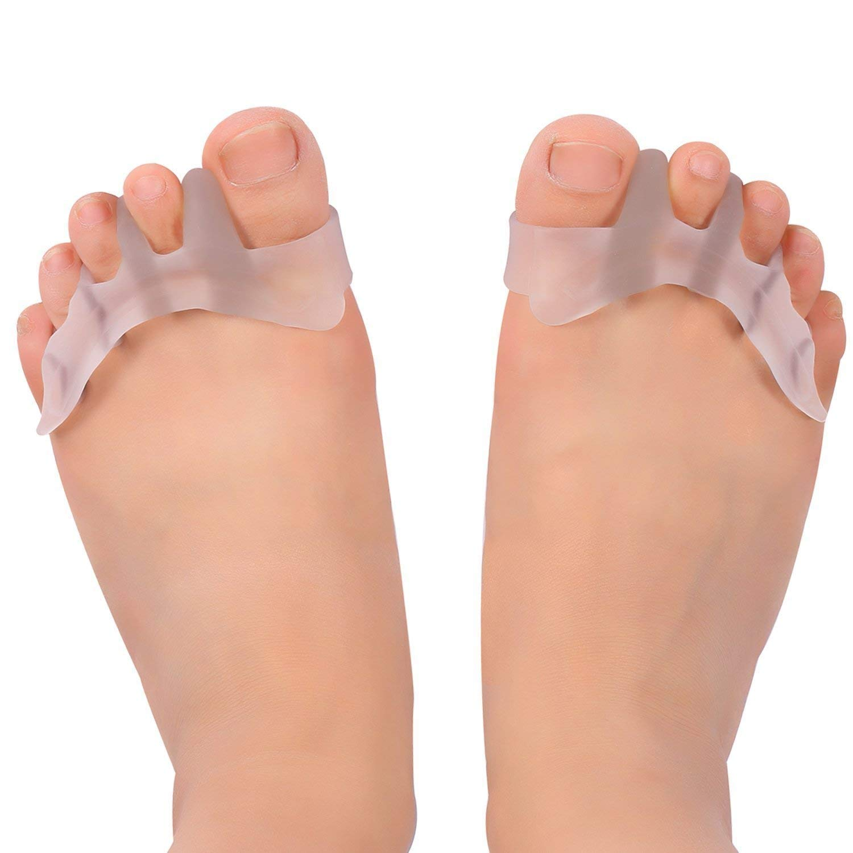 ZJchao Séparateurs/correcteurs d'orteils en gel pour danseurs, yogis et athlètes - Traitement pour oignons, orteils en griffe, hallux valgus