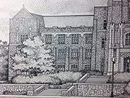 Virginia Tech Burruss Hall 11x14 Print